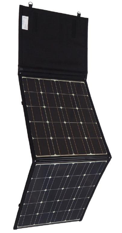 Faltbares Solarmodul 120 W angewinkelt für bessere Optik