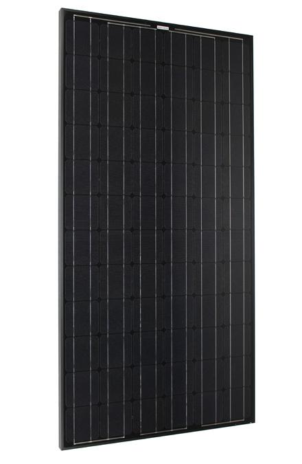 Solarmodul 200-24 schwarz vorn