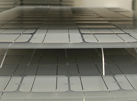 Laminieren der Solarzellen 02