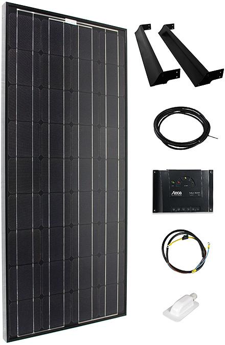 Solarmodul Komplettset 110 schwarz
