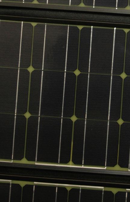 Solaranlage mobil faltbar Detailansicht