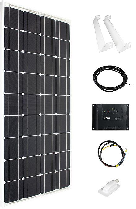 Solarmodul Komplettset 110 weiss