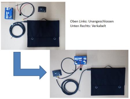 Anschluss Solarmodul an Batterie in 15 min
